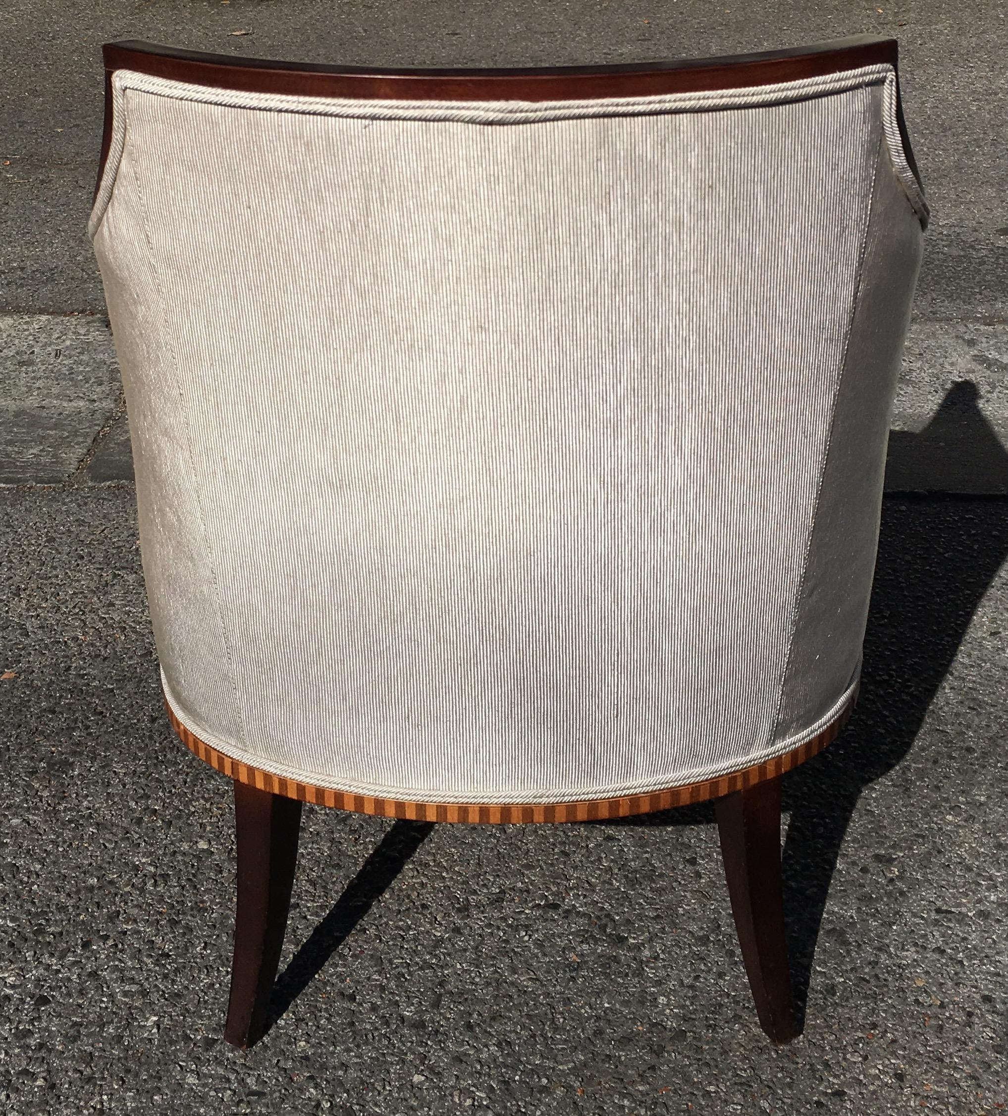 Barbara Barry Baker Furniture Company Art Deco Club Chair   Image 3 Of 7