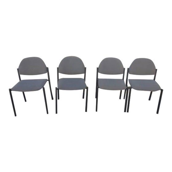 Comet Armless Stacking Chairs - Set of 4 For Sale