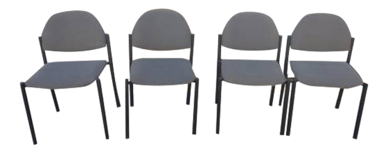 Comet Armless Stacking Chairs   Set Of 4