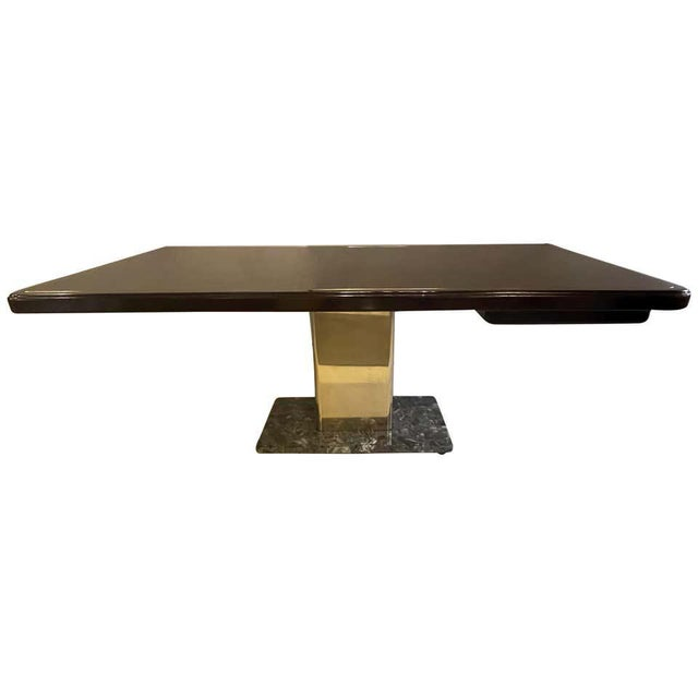 Warren Platner Desk Mid-Century Modern on a Rosewood, Brass and Marble Base For Sale - Image 13 of 13