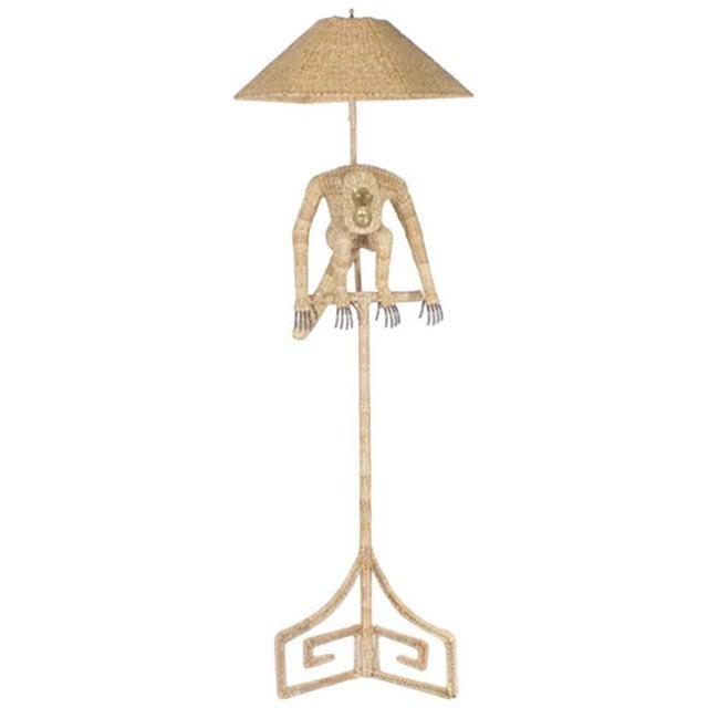 Tan Mario Torres Monkey Floor Lamp For Sale - Image 8 of 8