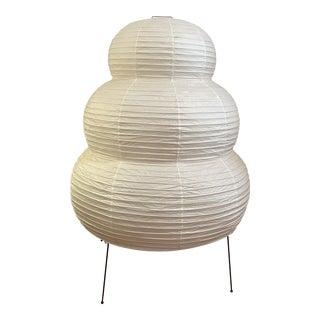 1980s Isamu Noguchi Akari Paper Light Sculpture Floor Lamp For Sale
