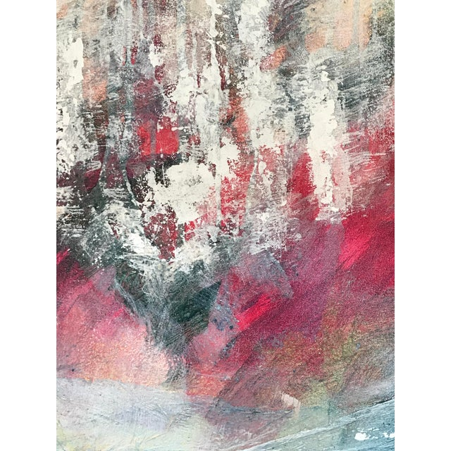 Patricia Zippin 1980s Abstract Painting Spring Cherries I For Sale - Image 4 of 8