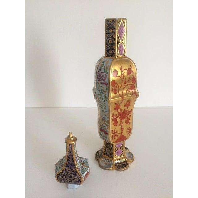 Vintage Middle Eastern Multicolor Floral Ceramic Bottle - Image 11 of 11