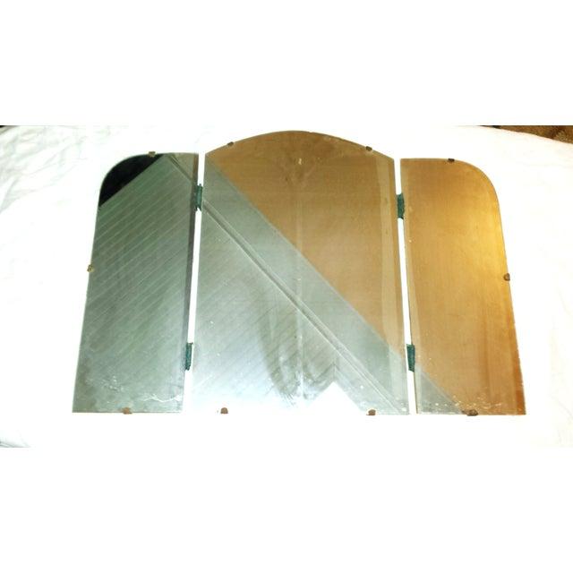 Art Deco Era Vintage Tri-Fold Vanity Mirror - Image 3 of 7