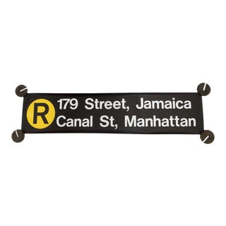 New York City Subway 'R' Train Sign For Sale
