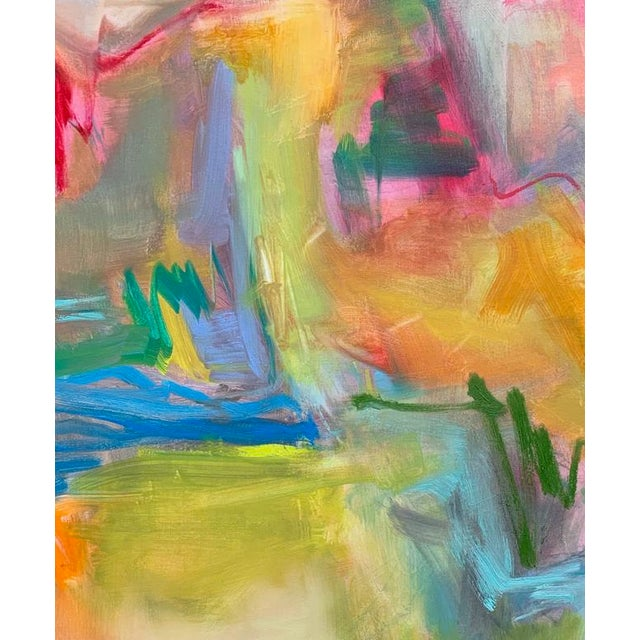 """""""Desert Rain"""" is an abstract expressionist oil painting on fine linen canvas by one of Chairish's most popular painters,..."""