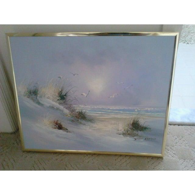 """""""Ocean"""" by John Leman, Oil Painting - Image 3 of 7"""