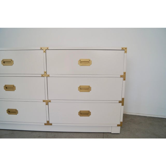 Metal 1960's Mid-Century Hollywood Regency Campaign Dresser For Sale - Image 7 of 13
