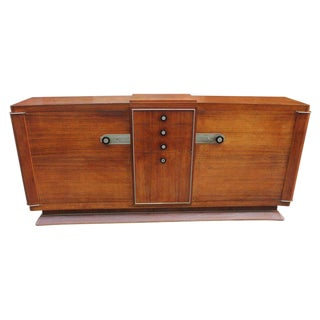1930s French Art Deco Dominique Masterpiece Sideboard/Buffet For Sale