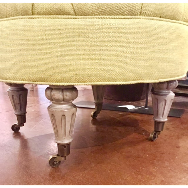 Currey & Co. Tufted Parlor Ottoman - Image 4 of 6