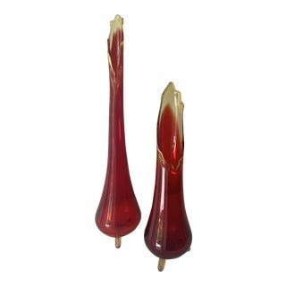 Vintage Mid-Century Modern Swung Viking Vases - a Pair For Sale