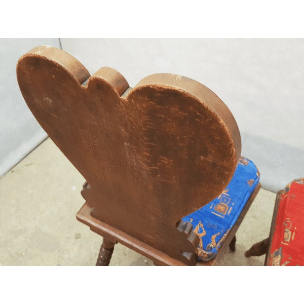 Charming Very Cute Alpine Chalet Style French Alps Rustic Side Chairs For Sale - Image 12 of 13