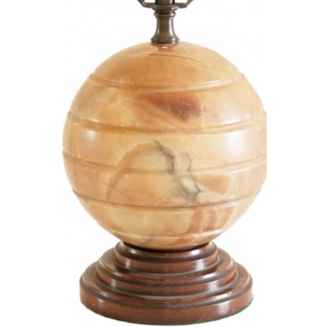 1930s Vintage Agate Table Lamp For Sale - Image 4 of 5