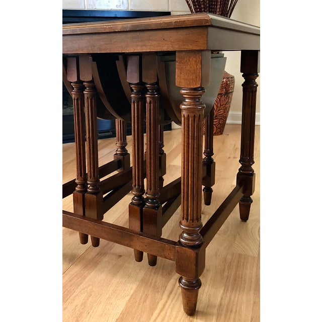Brown Traditional Gordon's Fine Furniture Nest of Tables - Set of 3 For Sale - Image 8 of 13