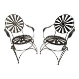 Image of Restored Metal Chairs by Francis Carre - a Pair For Sale