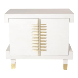 Robin Baron's Matte Gold Comb Nightstand