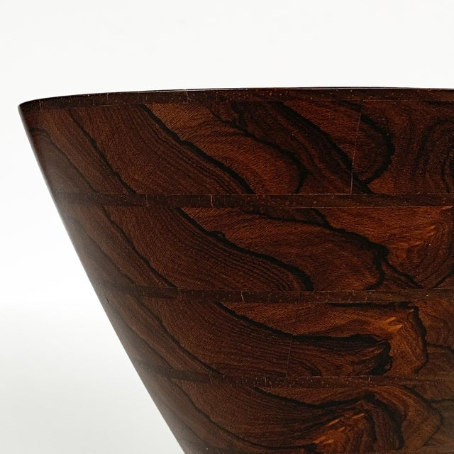 Peter Petrochko Carved Padauk and Ziricote Wood Bowl For Sale - Image 11 of 13
