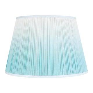 "Ombre Cotton Shirred Shade 16"" Aqua For Sale"