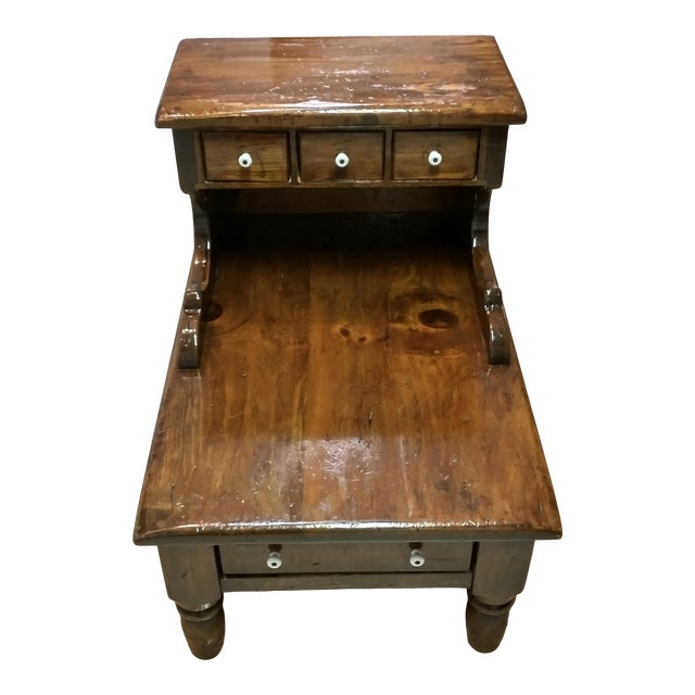 1960s Sugar Pine Step End Table For Sale