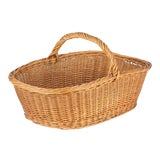 Image of French Wicker Basket From Auvergne Region For Sale