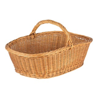 French Wicker Basket From Auvergne Region For Sale