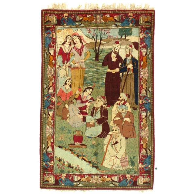 """2010s Pasargad Antique Kashan Hand-Knotted Rug - 4′4"""" × 6′11"""" For Sale - Image 5 of 5"""