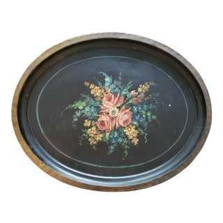 Mid 19th Century Antique Toleware Tray For Sale