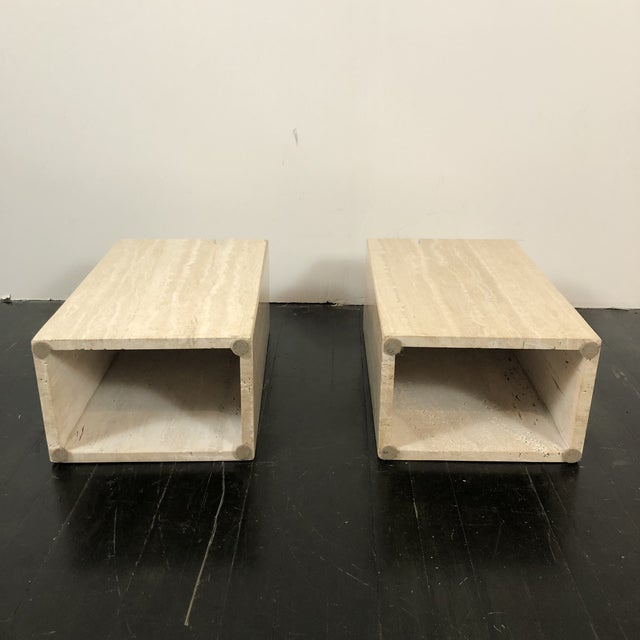 1970s Artedi Italian Marble Side Tables - a Pair For Sale - Image 11 of 13