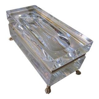 Vintage Mandruzzato Murano Glass Box For Sale
