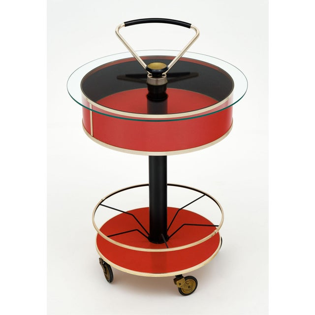 Italian Hydraulic Bar Cart For Sale - Image 9 of 10