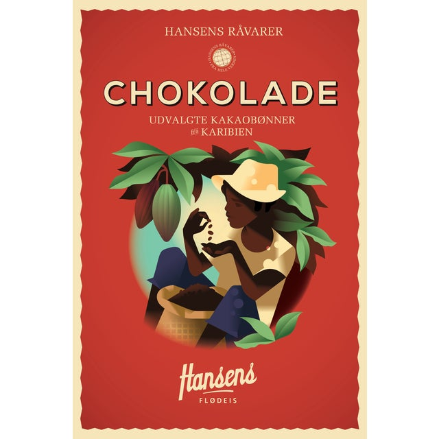 Mads Berg 'Hansen's Chockolade' Danish Poster - Image 1 of 2