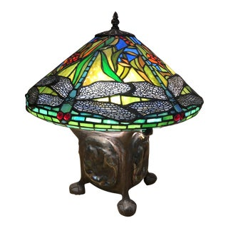 Vintage Tiffany-Style Lamp For Sale