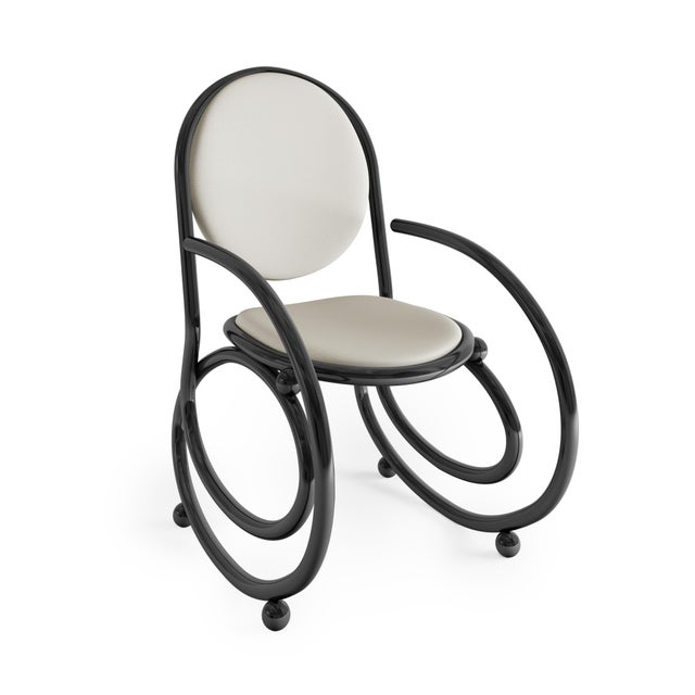 21st Century Custom Made Contemporary One Of A Kind Spring Chair With Arms. Made from metal or wood this chair is a real...