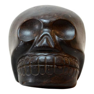 Aztec Black Stone Skull For Sale