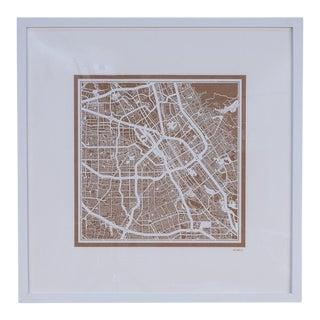 Sarreid Ltd. San Jose Framed Map