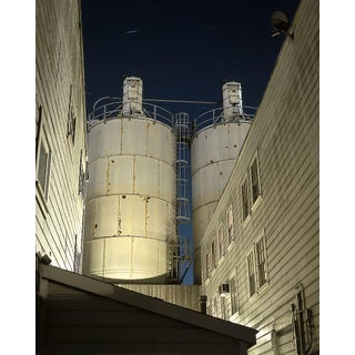 "Contemporary Night Photograph ""Twin Tanks"" by John Vias For Sale"