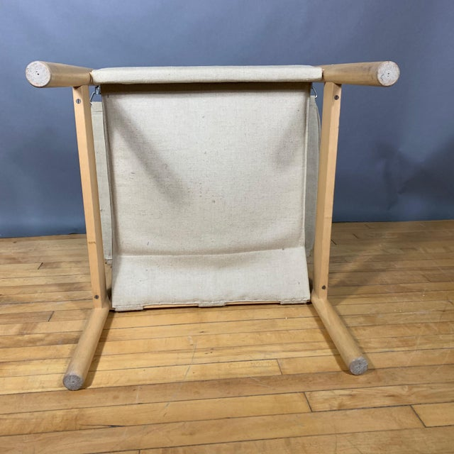 Oak & Canvas Safari Chair, Grainsack Seat, Worts Style For Sale - Image 10 of 11