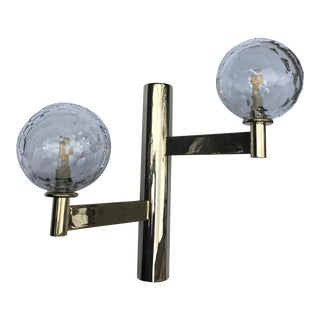 Italian Crystal 2 Lights Wall Sconces For Sale