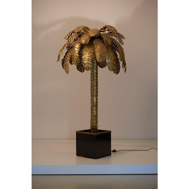 Very Impressive Brass Palm Floor Lamp by Maison Jansen For Sale - Image 6 of 8