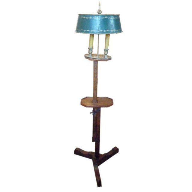 Wood 19th Century Adjustable Wooden Floor Lamp For Sale - Image 7 of 7