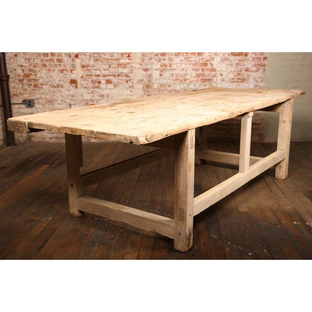 Carpenter's workbench with vise for a kitchen island, work table, or multipurpose bench.