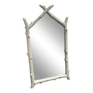 Faux Bois Wall Mirror