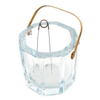Cartier Art Deco Octagonal Crystal Ice Bucket For Sale