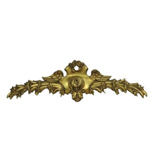 Early 20th Century Antique Belgian Decorative Gold Brass Leaf For Sale
