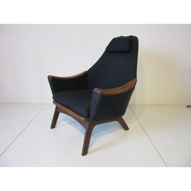 1960s Adrian Pearsall Upholstered Lounge Chair For Sale - Image 10 of 10