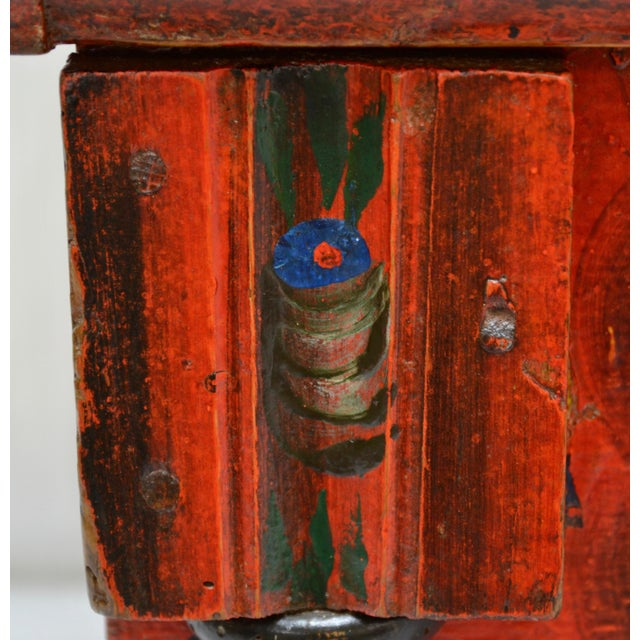Hungarian Pine Trunk or Blanket Chest in Original Paint For Sale - Image 9 of 13