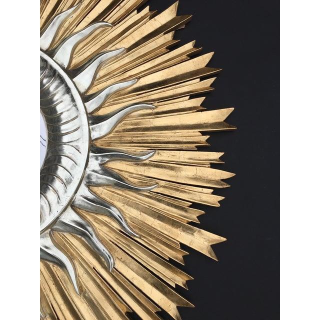 Italian Hand Carved Sunburst Mirror For Sale - Image 4 of 7