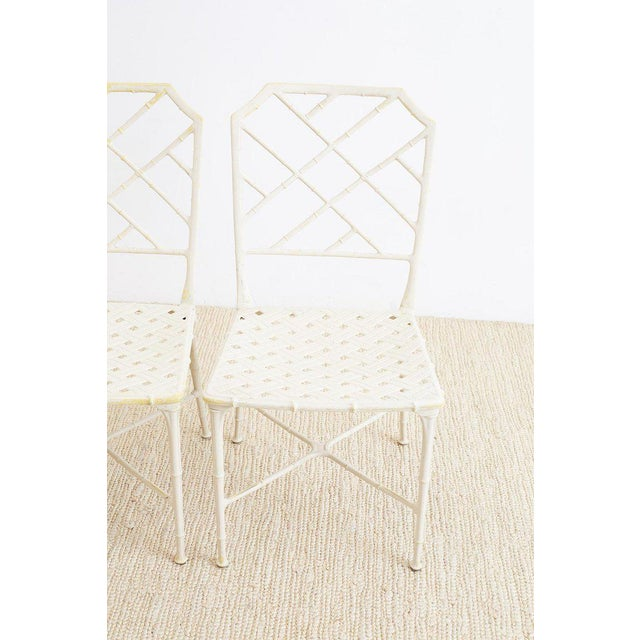 Mid 20th Century Brown Jordan Calcutta Faux Bamboo Garden Chairs For Sale - Image 5 of 13
