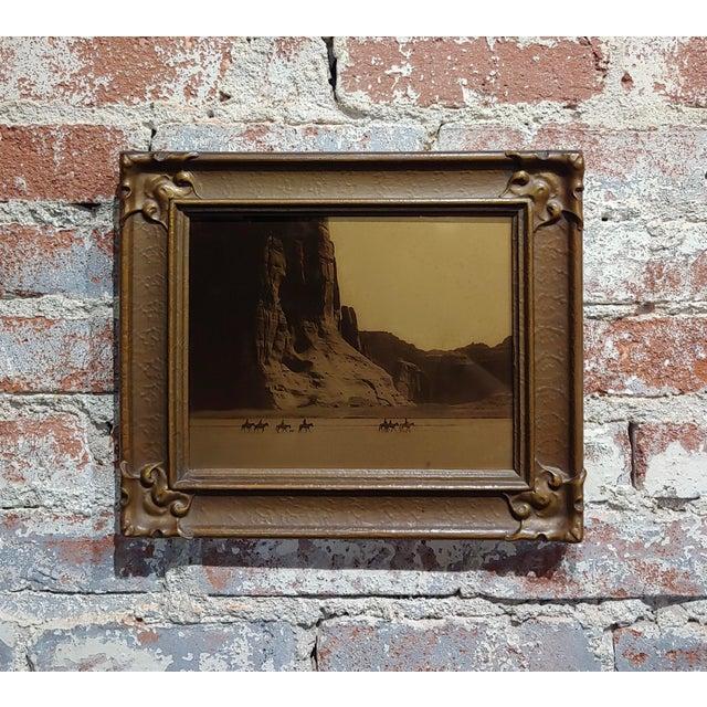 Edward Curtis -Navajo Canyon De Chelly -1904 Original Orotone-Rare For Sale - Image 9 of 9